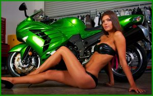 Hot bikini models and bikes